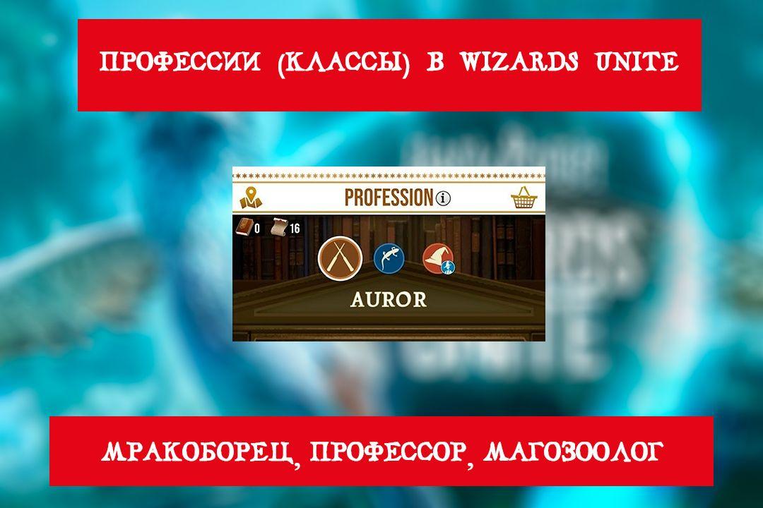 Профессии (Классы) в Wizards Unite: Мракоборец, Магозоолог, Профессор