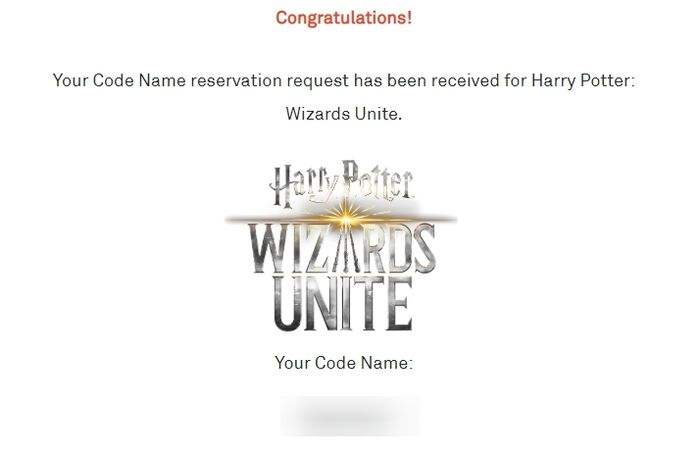 Как зарезервировать имя для Harry Potter: Wizards Unite