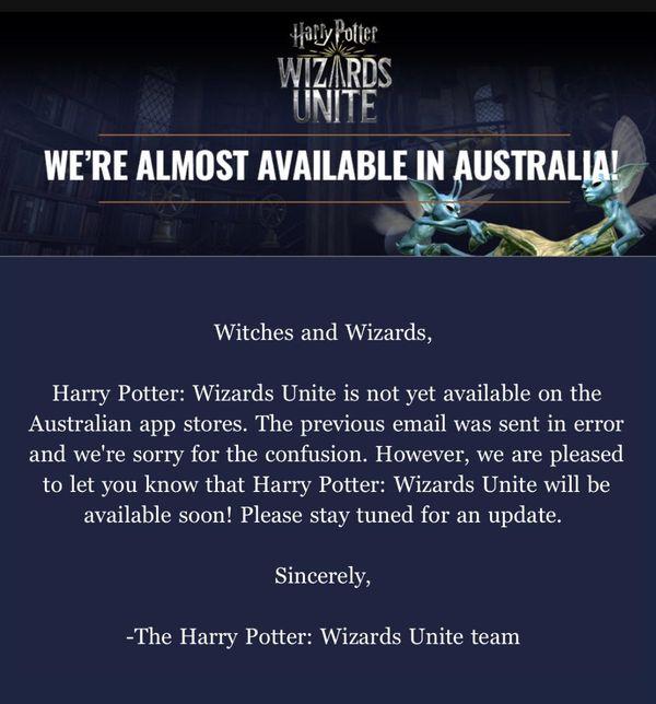 Бета тест Wizards Unite почти начался в Австралии!