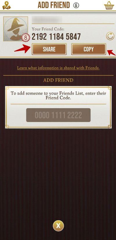 Список кодов друзей Wizards Unite: найди себе друга!