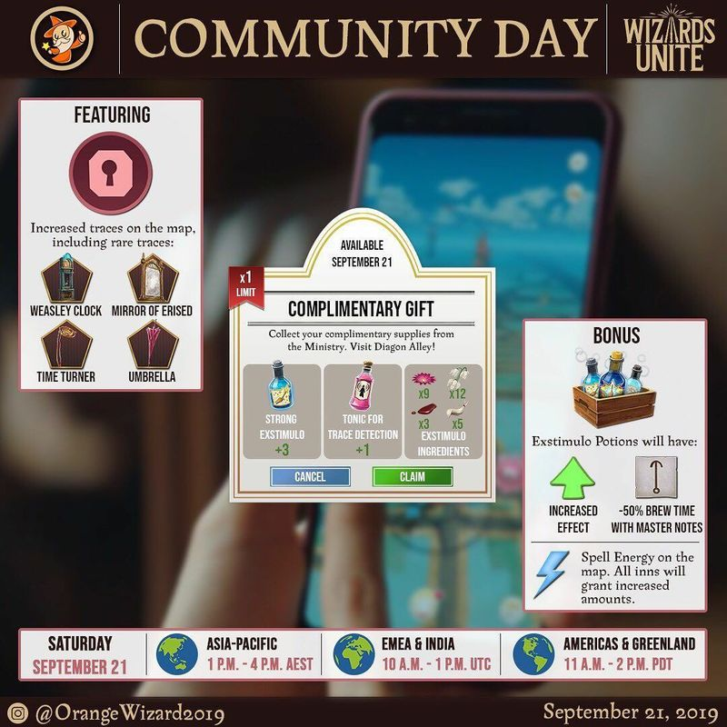 День Сообщества в Wizards Unite (Community Day) в сентябре