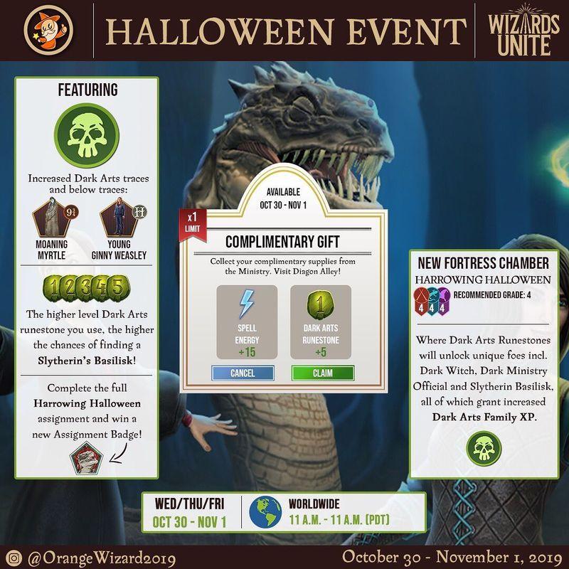 Хэллоуин 2019 в Wizards Unite: подробная информация